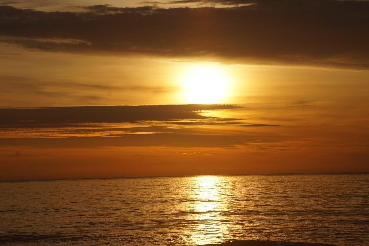 Puesta De Sol Playa Nueva Jersey