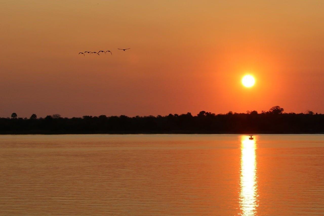 Puesta De Sol Zambia Zambezi
