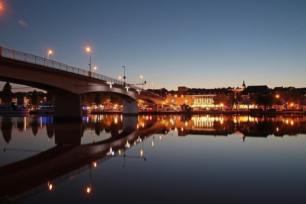 Remich Luxemburgo Noche De Verano