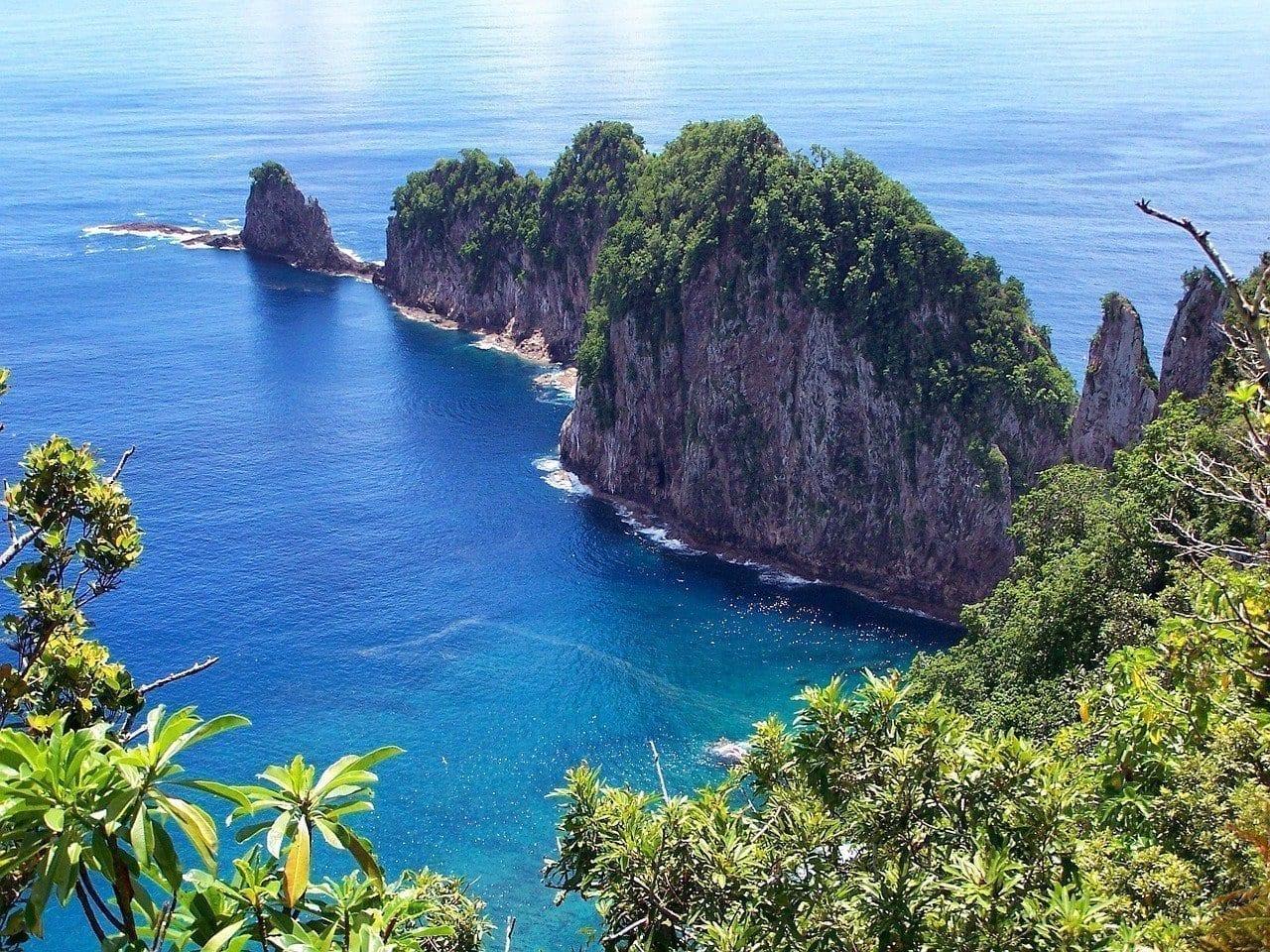 Samoa Americana Isla Escénico