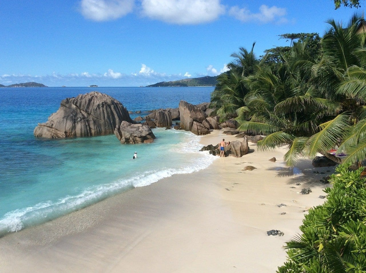 Seychelles La Digue Playa