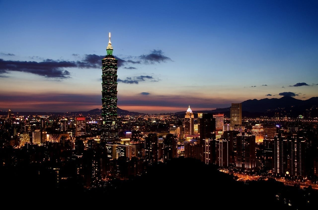 Taipei Horizonte Taiwán