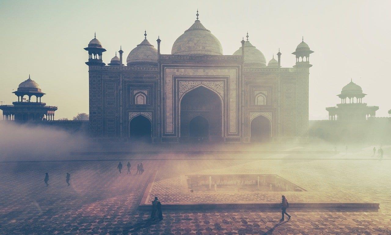 Taj Mahal India La Construcción De