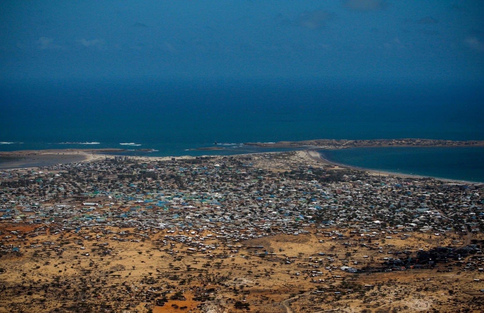 Una vista de pájaro de Kismayo. Somalia