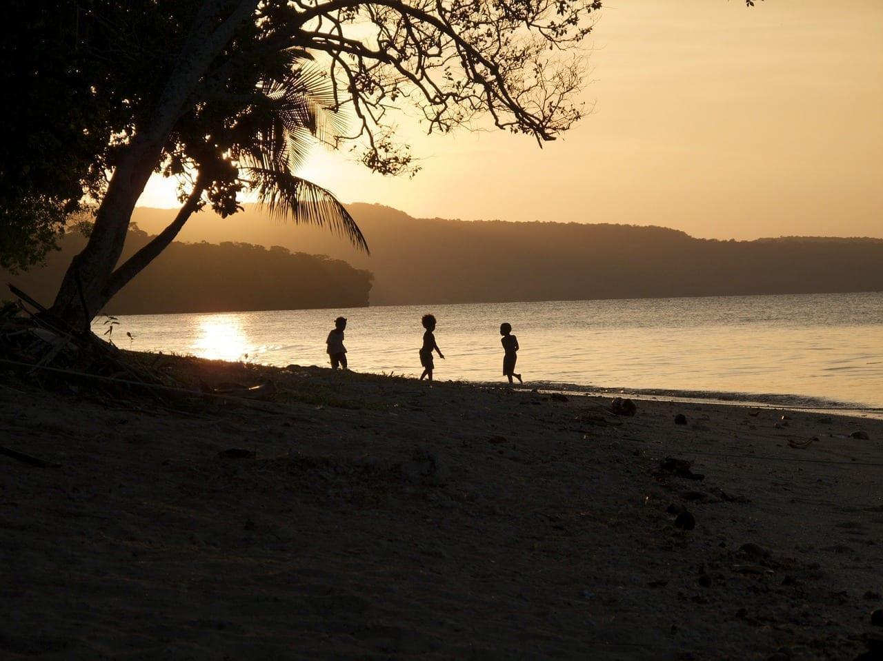 Vanuatu Puesta De Sol Océano