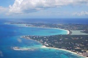 Vista aérea del oeste de Anguila Anguilla