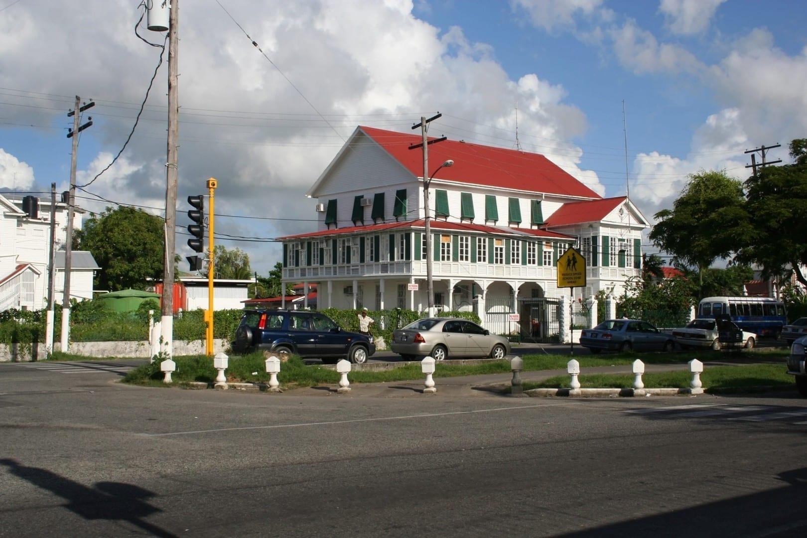 Vista de la calle en Georgetown Guyana