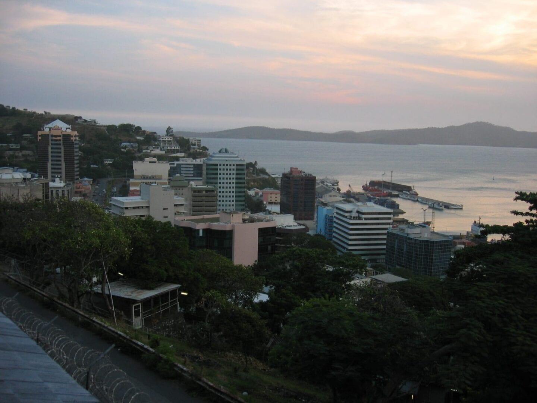 Vista sobre Port Moresby Papúa Nueva Guinea
