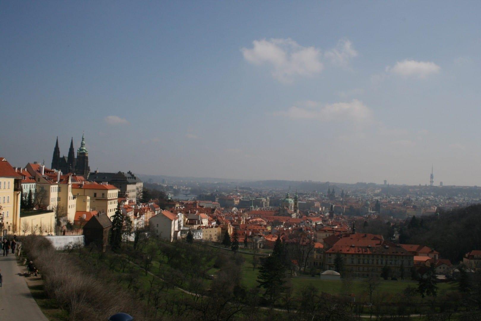 Vista sobre Praga (Castillo a la izquierda) República Checa
