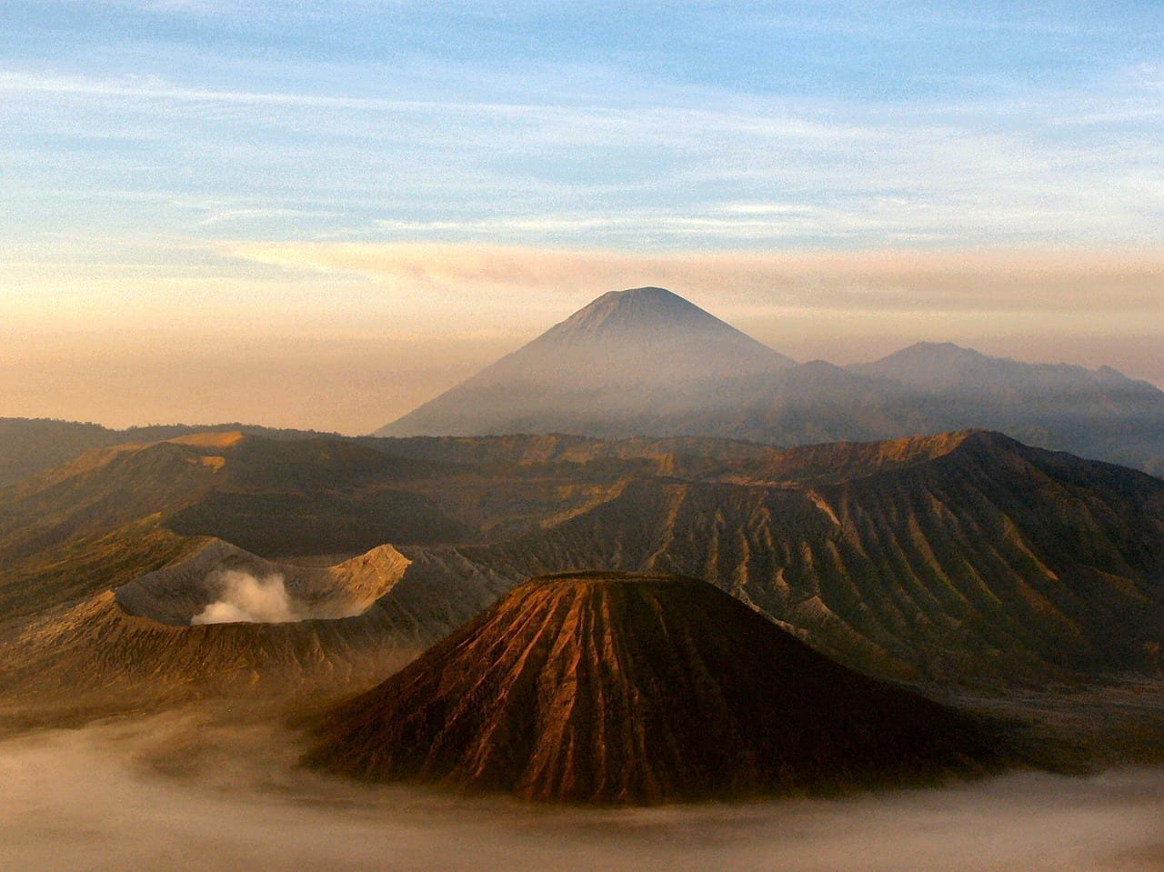 Volcán Java Indonesia