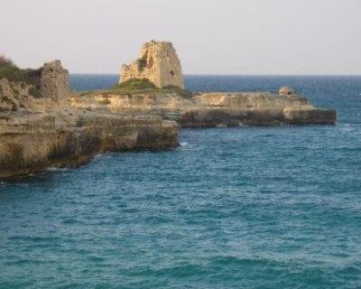 Roca marina di Melendugno Italia