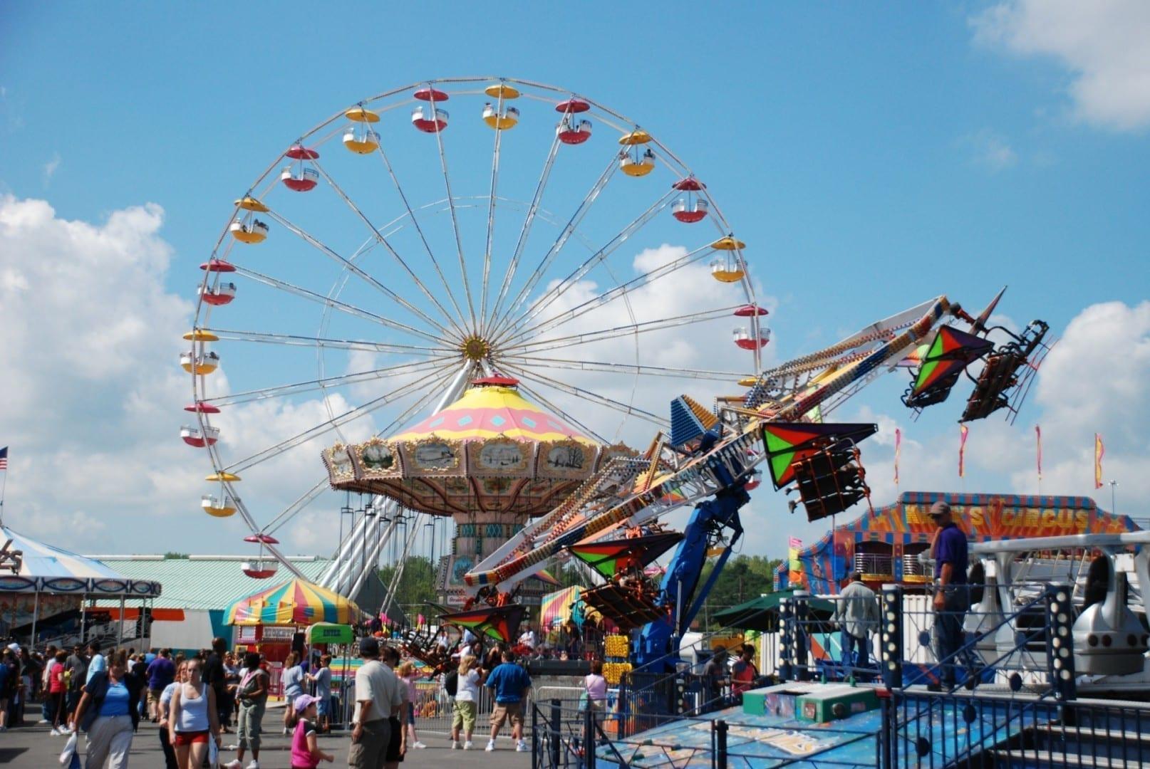 A mitad de camino en la Feria Syracuse NY Estados Unidos