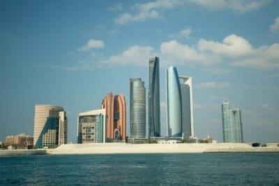 Abu Dhabi Ciudad Horizonte Emiratos Árabes Unidos