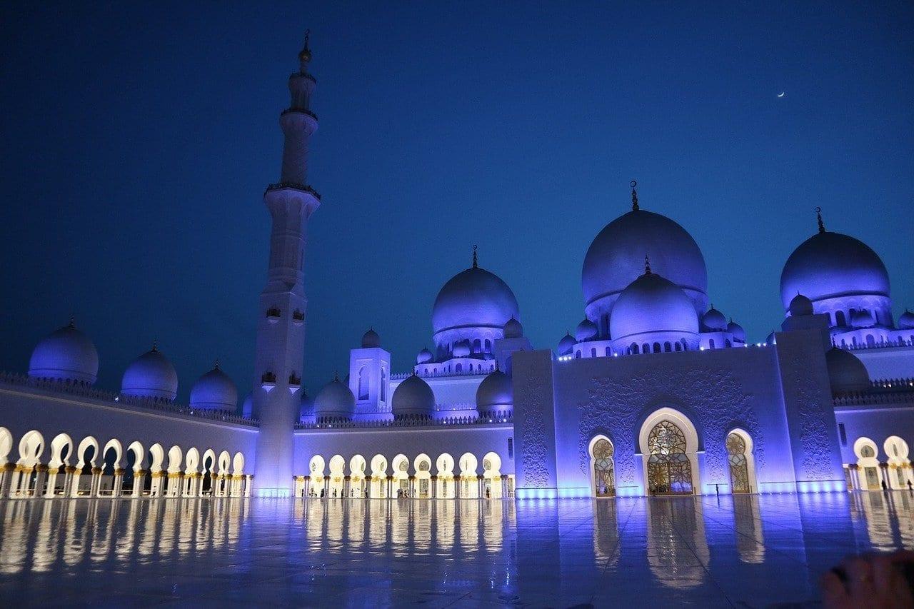 Abu Dhabi Mezquita Arquitectura Emiratos Árabes Unidos
