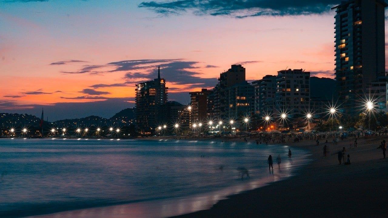 Acapulco Puesta De Sol Mexico México