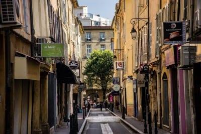 Aix-en-provence Ciudad Vida En La Calle Francia