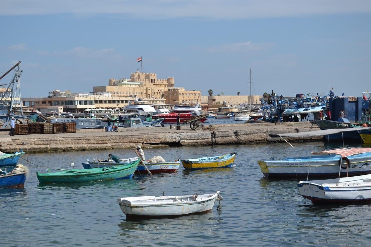 Alejandría Mar Mediterráneo Mar Egipto