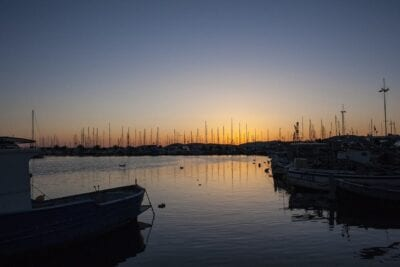 Alghero Porto Puesta Del Sol Italia