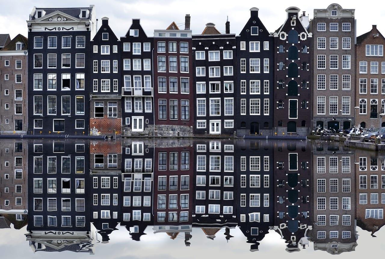Amsterdam Europa A Pie Países Bajos
