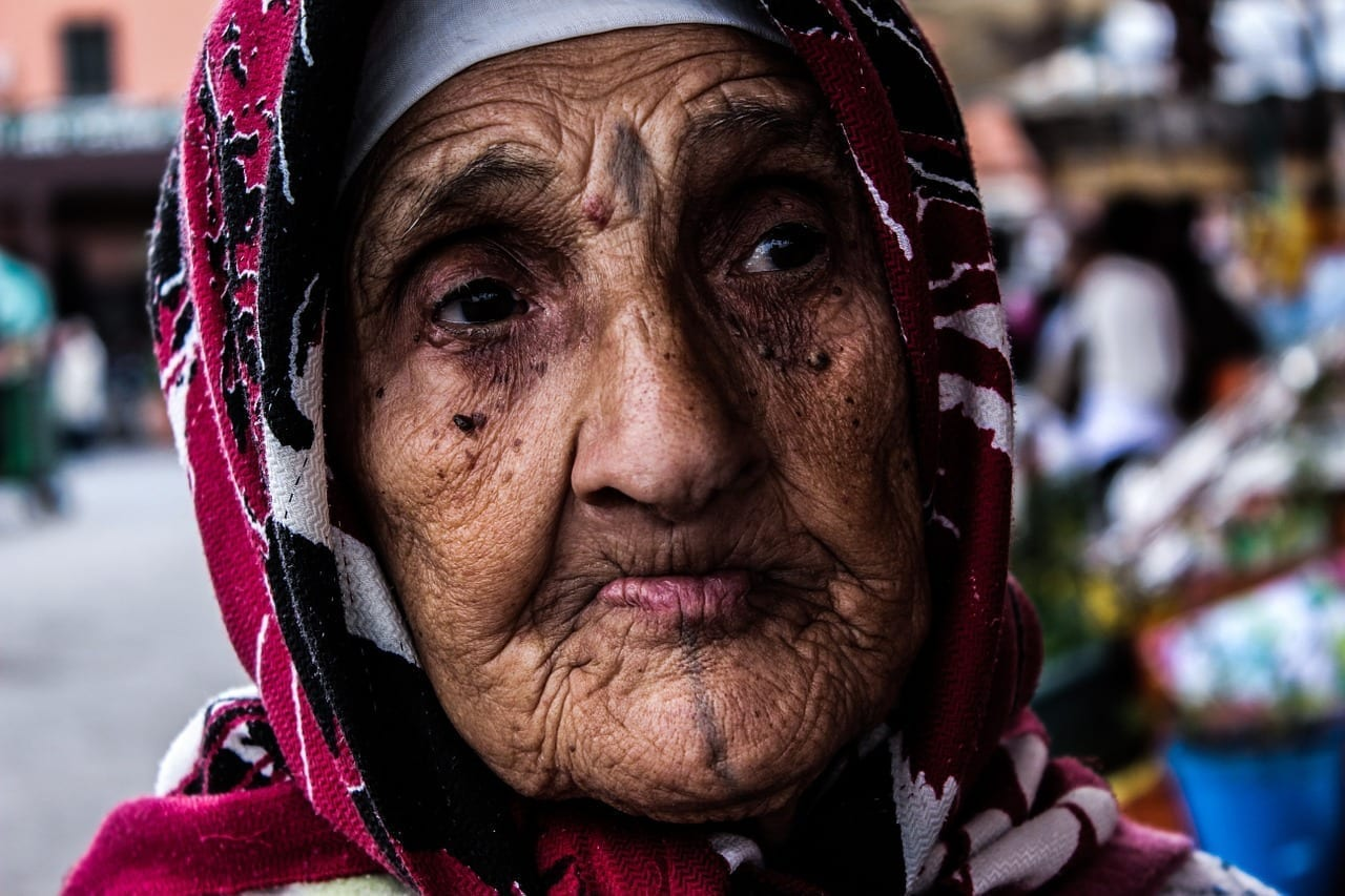 Anciana Marruecos Marrakech Marruecos