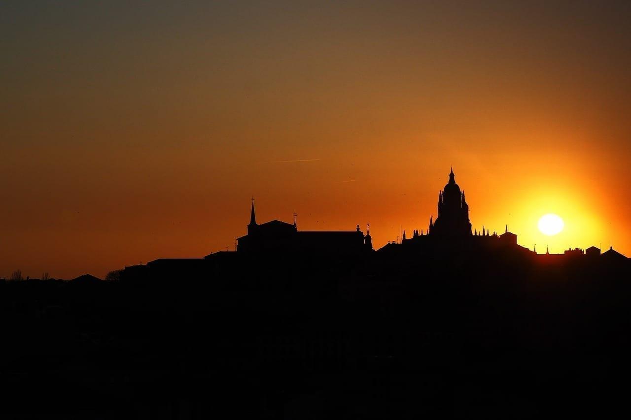 Atardecer Catedral Segovia España