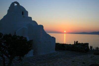 Atardecer en Paraportiani Miconos Grecia