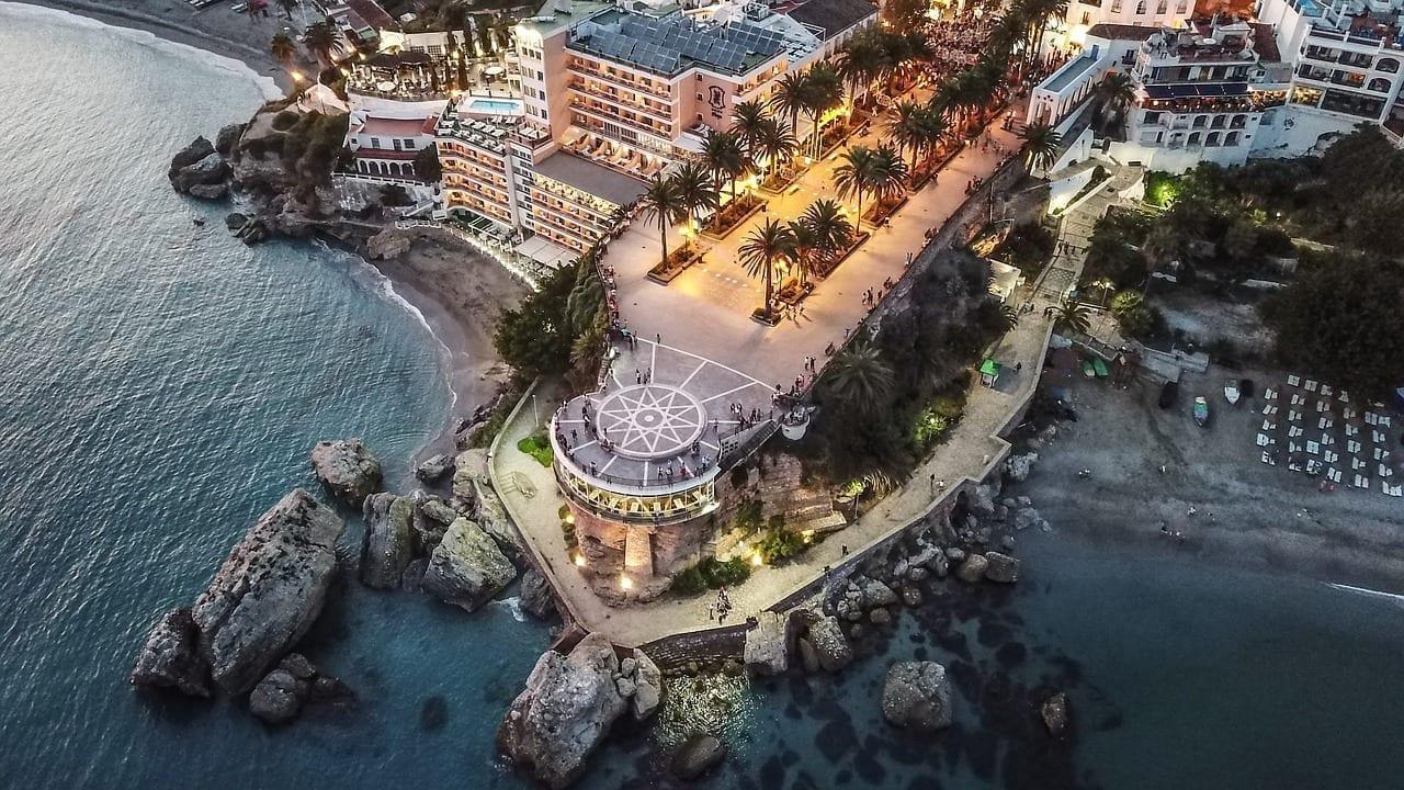 Atardecer Nerja Balcón De Europa España
