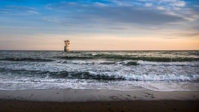 Atardecer Playa Del Cable Marbella España