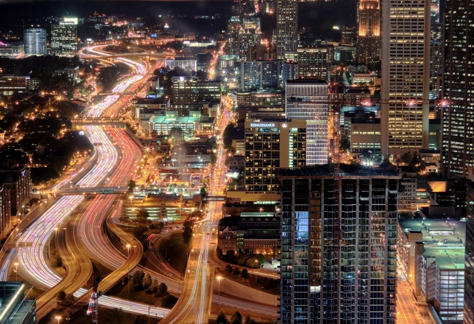 Atlanta de noche Atlanta Estados Unidos