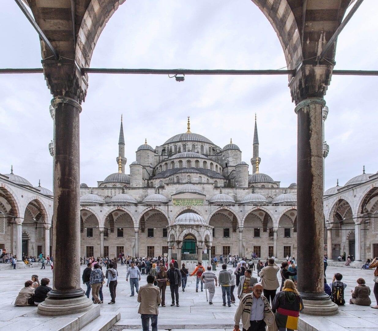 Aya Sofía Estambul Personas Turquía
