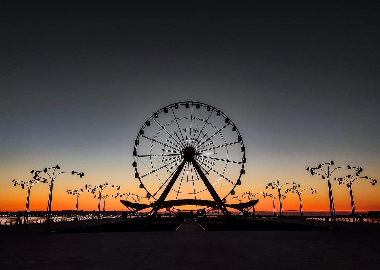 Bakú Ojo Sunrise Mar Azerbaiyán