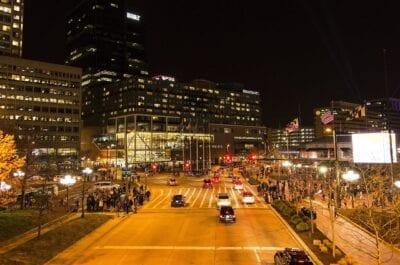 Baltimore Noche El Tráfico Estados Unidos