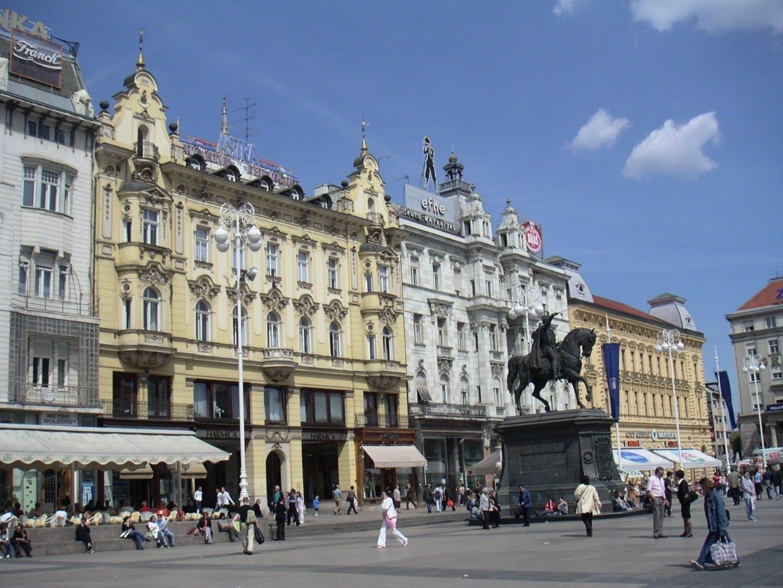 Ban Jelačić Square Zagreb Croacia