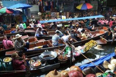 Bangkok Tailandia Mercado Flotante Tailandia
