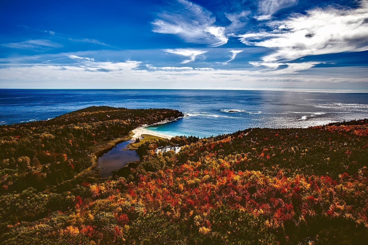 Bar Harbor Maine Otoño Estados Unidos