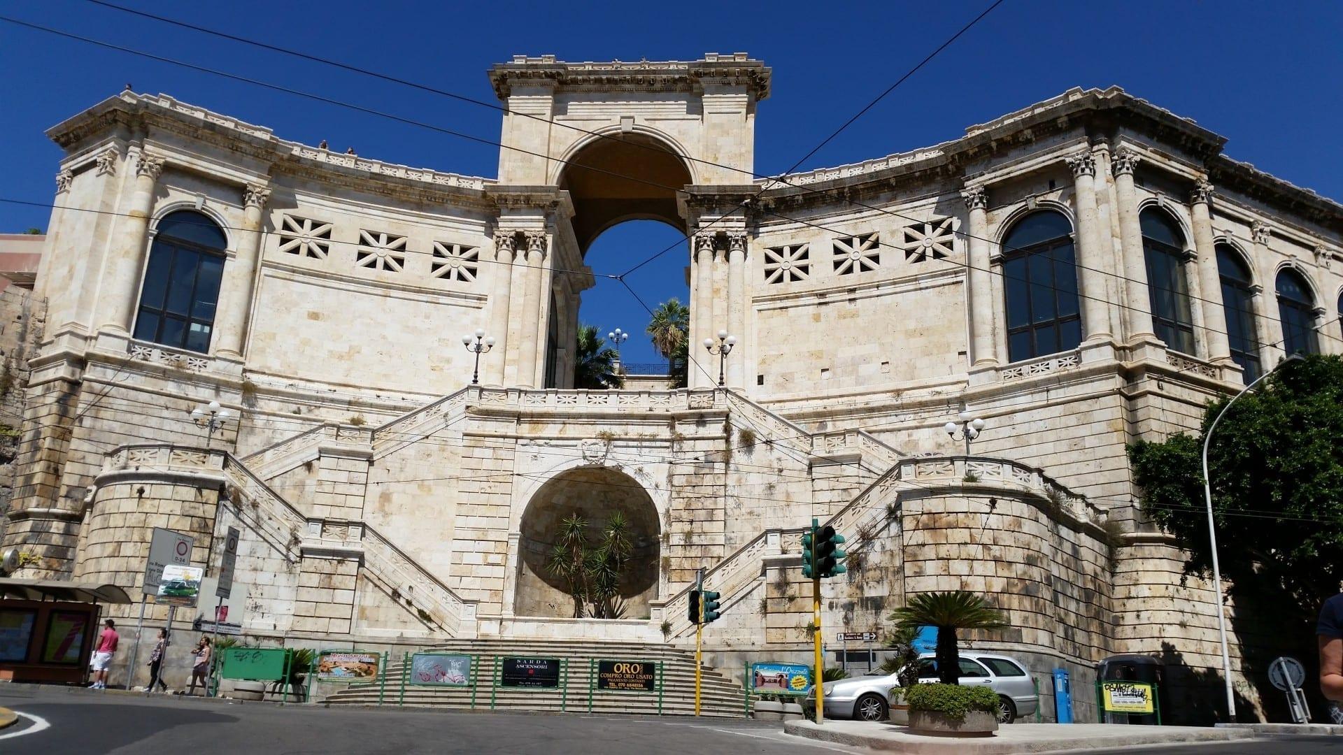 Bastión Remy en Cagliari Cagliari, Sardinia Italia