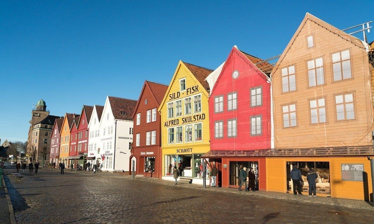 Bergen Noruega Ciudad Noruega