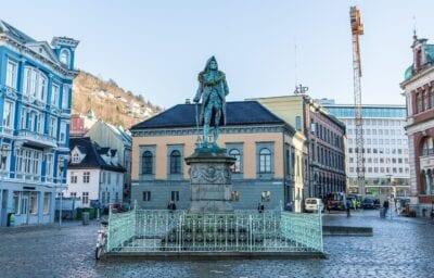 Bergen Noruega Estatua Noruega