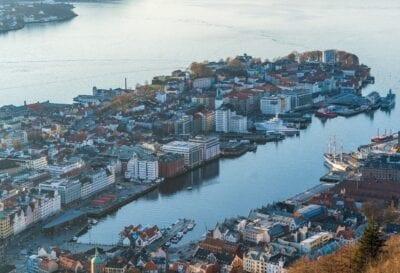 Bergen Noruega Vista Elevada Noruega