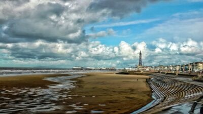 Blackpool Mar Muelle Reino Unido