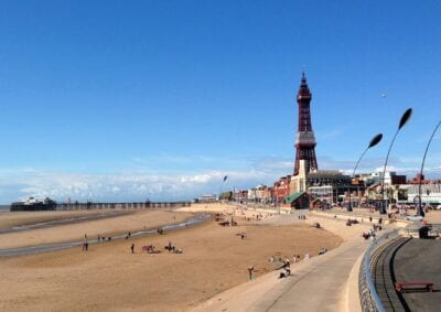 Blackpool Torre Playa Reino Unido