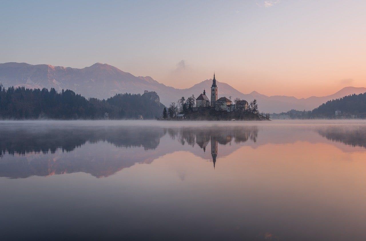 Bled Invierno Lago Eslovenia