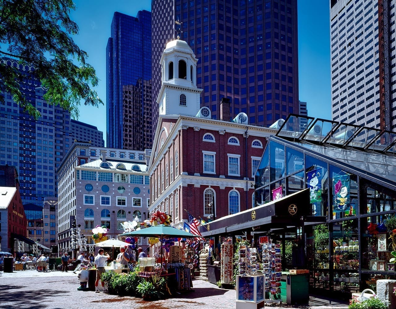 Boston Massachusetts Faneuil Hall Estados Unidos