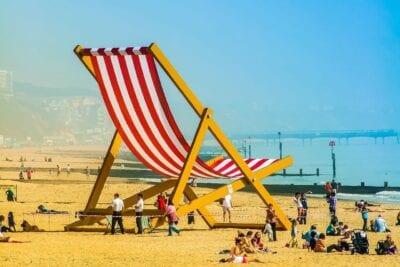 Bournemouth Océano Verano Reino Unido