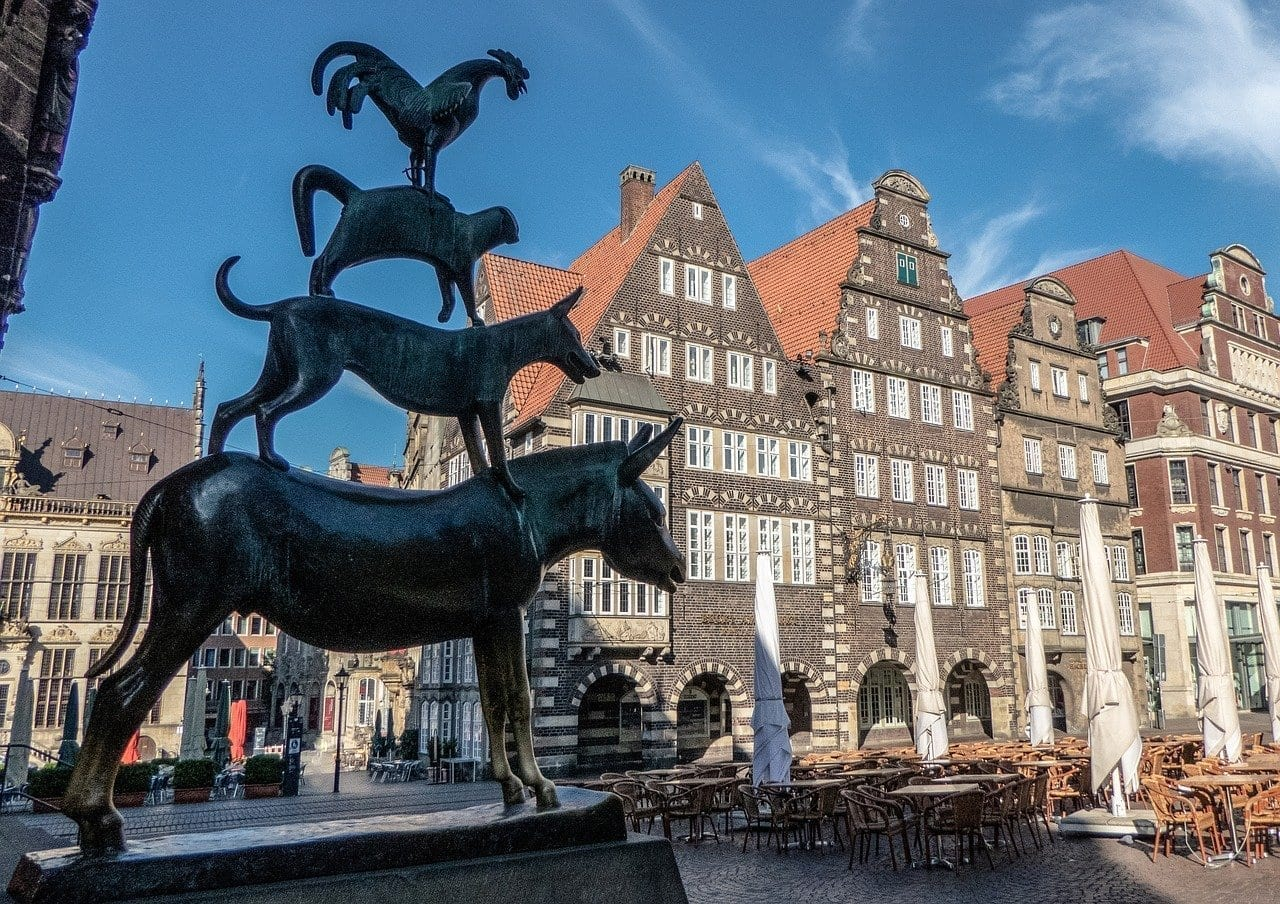 Bremen Músicos De La Ciudad Estatua Alemania