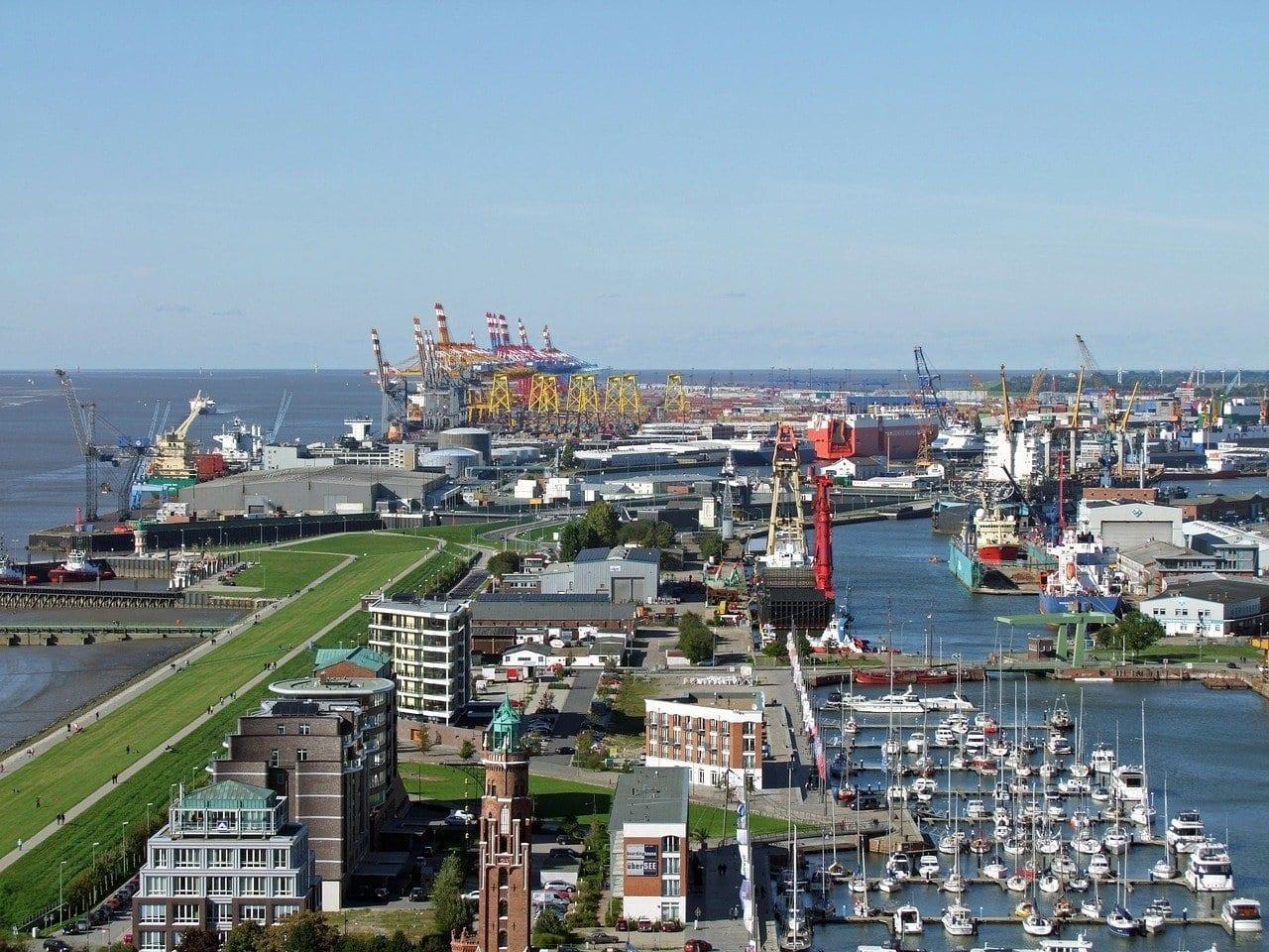 Bremerhaven Punto De Vista Puerto Nuevo Alemania