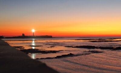 Cádiz Puesta De Sol Playa España