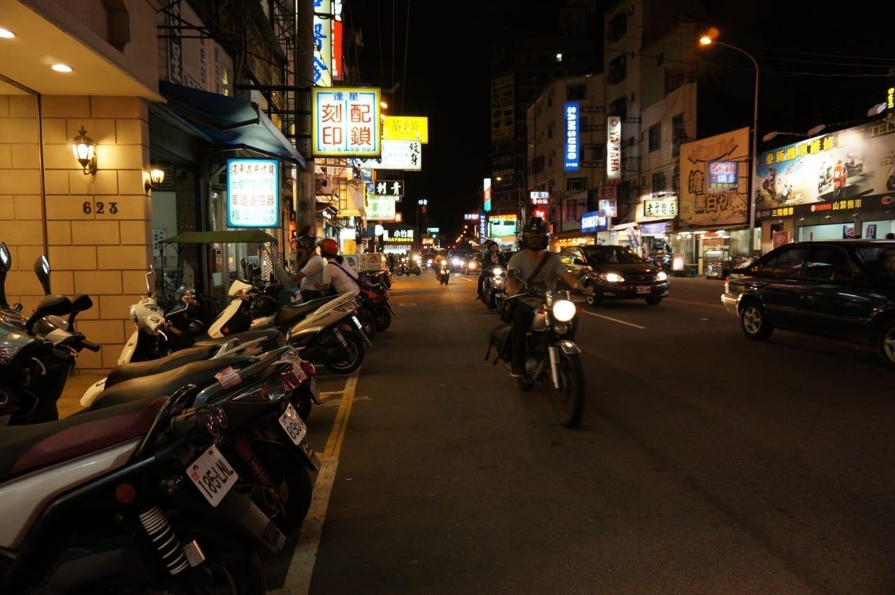Calle Taichung Taichung Taiwán