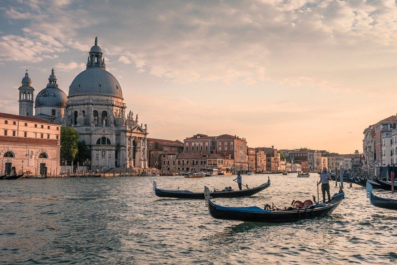 Canal Venecia Góndolas Italia
