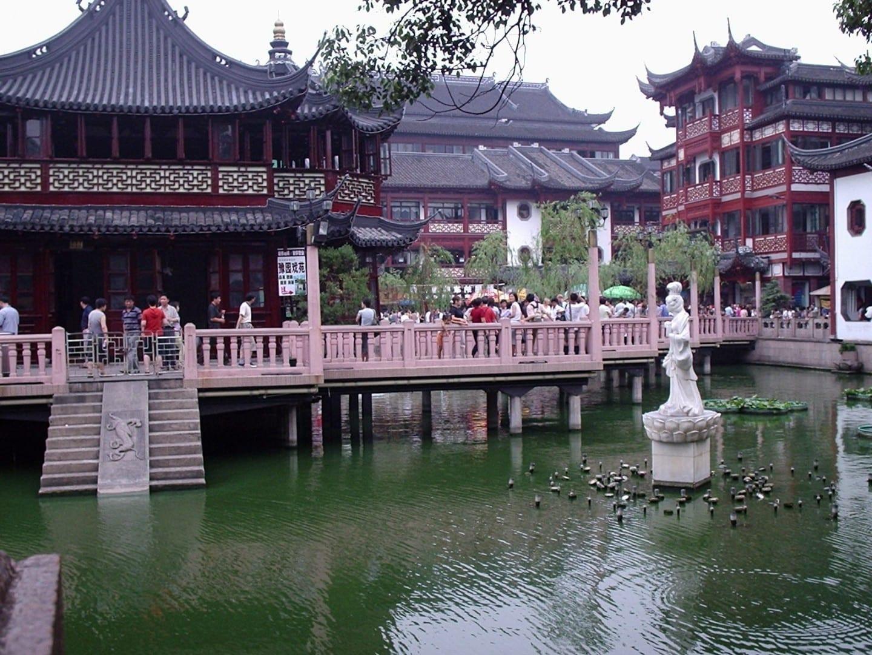 Casa de té en el casco antiguo Shanghái China